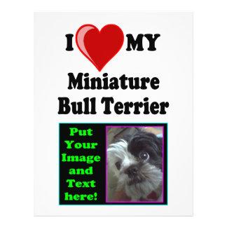 I Love (Heart) My Miniature Bull Terrier Dog 21.5 Cm X 28 Cm Flyer
