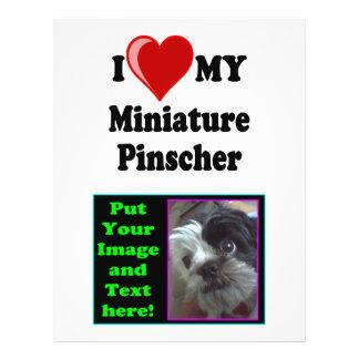 I Love (Heart) My Miniature Pinscher Dog 21.5 Cm X 28 Cm Flyer