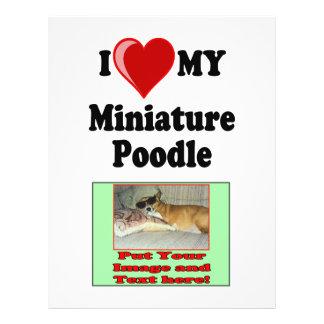 I Love (Heart) My Miniature Poodle Dog Flyer