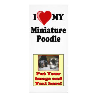 I Love (Heart) My Miniature Poodle Dog Rack Card Design