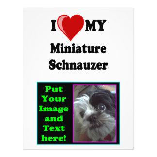 I Love (Heart) My Miniature Schnauzer Dog 21.5 Cm X 28 Cm Flyer