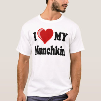 I Love (Heart) My Munchkin Cat T-Shirt