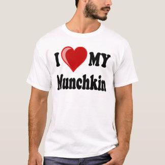 I Love (Heart) My Munchkin Cat T-Shirt