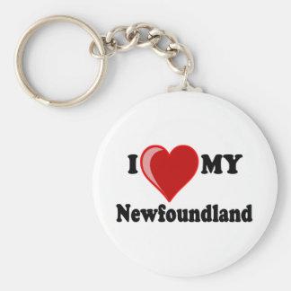 I Love (Heart) My Newfoundland Dog Key Ring