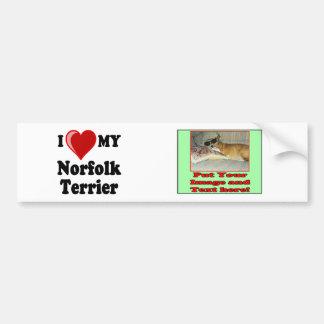 I Love (Heart) My Norfolk Terrier Dog Bumper Sticker