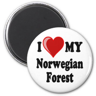 I Love (Heart) My Norwegian Forest Cat Magnet