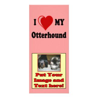 I Love (Heart) My Otterhound Dog Customized Rack Card