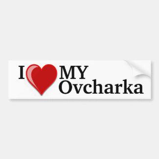 I Love (Heart) My Ovcharka Dog Bumper Sticker