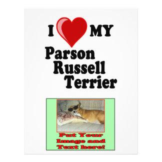 I Love (Heart) My Parson Russell Terrier Dog 21.5 Cm X 28 Cm Flyer