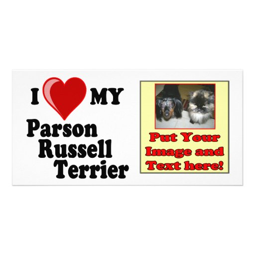 I Love (Heart) My Parson Russell Terrier Dog Photo Cards
