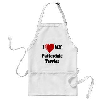 I Love (Heart) My Patterdale Terrier Dog Standard Apron