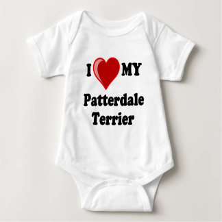 I Love (Heart) My Patterdale Terrier Dog Tshirts
