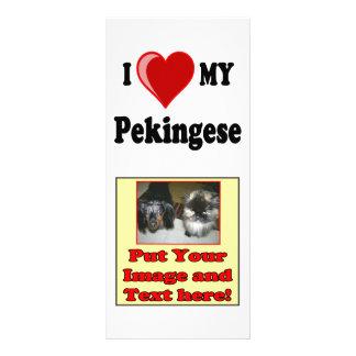 I Love (Heart) My Pekingese Dog Custom Rack Card