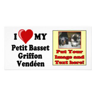 I Love (Heart) My Petit Basset Griffon Vendéen Dog Photo Card