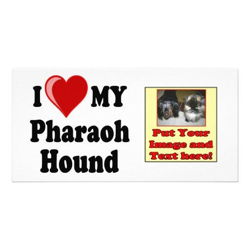 I Love (Heart) My Pharaoh Hound Dog Photo Card