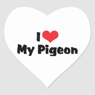I Love Heart My Pigeon - Bird Lover Heart Sticker
