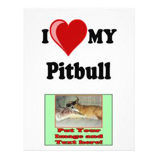 I Love (Heart) My Pitbull Dog 21.5 Cm X 28 Cm Flyer