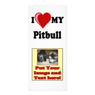 I Love (Heart) My Pitbull Dog Rack Card Template
