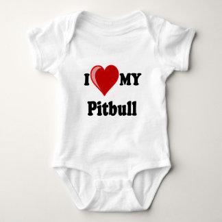I Love (Heart) My Pitbull Dog Tee Shirt
