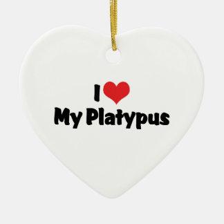 I Love Heart My Platypus Christmas Ornament