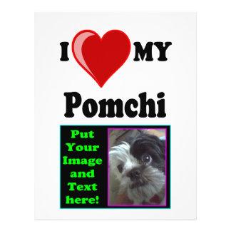 I Love (Heart) My Pomchi Dog 21.5 Cm X 28 Cm Flyer