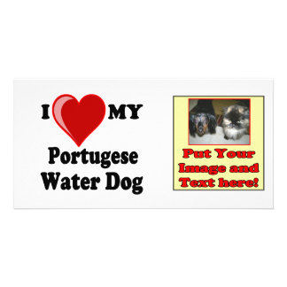 I Love Heart My Portugese Water Dog Photo Greeting Card