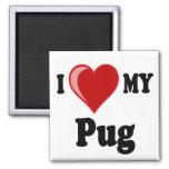 I Love (Heart) My Pug Dog