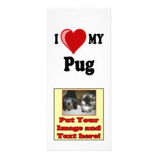 I Love (Heart) My Pug Dog Rack Cards