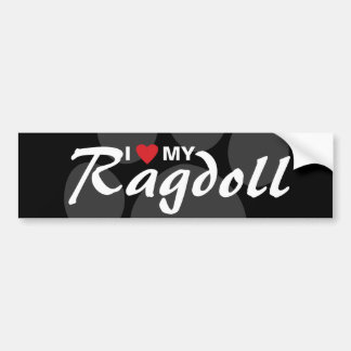 I Love (Heart) My Ragdoll Bumper Sticker