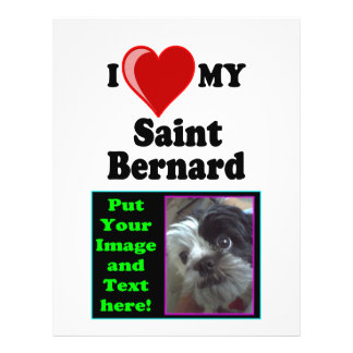 I Love (Heart) My Saint Bernard Dog 21.5 Cm X 28 Cm Flyer