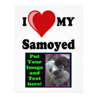 I Love (Heart) My Samoyed Dog 21.5 Cm X 28 Cm Flyer