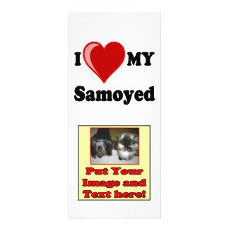 I Love (Heart) My Samoyed Dog Rack Card