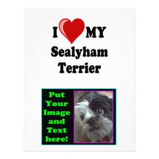 I Love (Heart) My Sealyham Terrier Dog Gifts Personalized Flyer