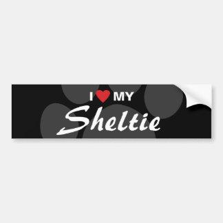 I Love (Heart) My Sheltie Bumper Sticker