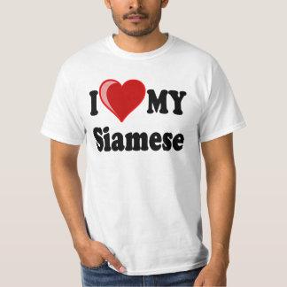 I Love (Heart) My Siamese Cat T-Shirt