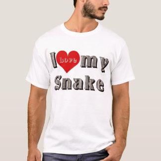 i love (heart) my snake T-Shirt