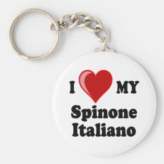 I Love Heart My Spinone Italiano Dog Keychain