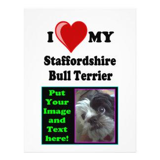 I Love (Heart) My Staffordshire Bull Dog 21.5 Cm X 28 Cm Flyer