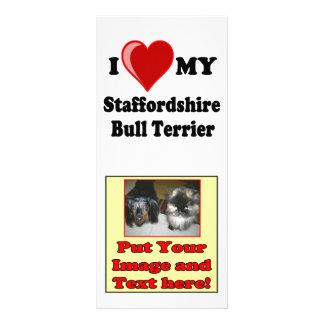 I Love (Heart) My Staffordshire Bull Dog Full Colour Rack Card