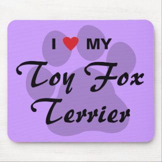 I Love Heart My Toy Fox Terrier Mouse Pads