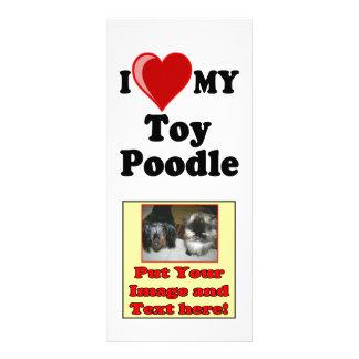 I Love (Heart) My Toy Poodle Dog Custom Rack Card