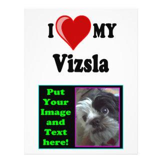 I Love (Heart) My Vizsla Dog 21.5 Cm X 28 Cm Flyer