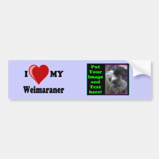 I Love (Heart) My Weimaraner Dog Bumper Sticker