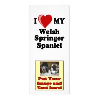 I Love (Heart) My Welsh Springer Spaniel Dog Full Color Rack Card