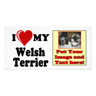 I Love (Heart) My Welsh Terrier Dog Photo Card