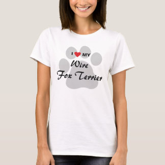 I Love (Heart) My Wire Fox Terrier Dog Shirt