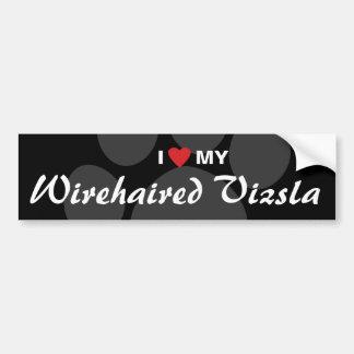 I Love (Heart) My Wirehaired Vizsla Bumper Sticker