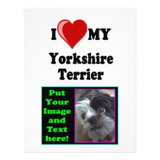 I Love (Heart) My Yorkshire Terrier Dog 21.5 Cm X 28 Cm Flyer