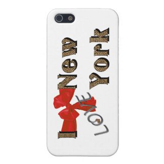 I Love (heart) N.Y. faux Leopard IPhone 4 case