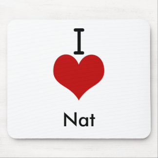 I Love (heart) Nat Mouse Pads